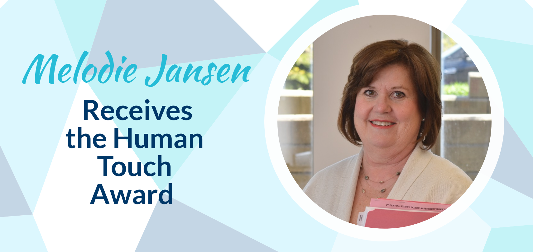 Photo of Melodie Jansen, Winner of 2018 Human Touch Award