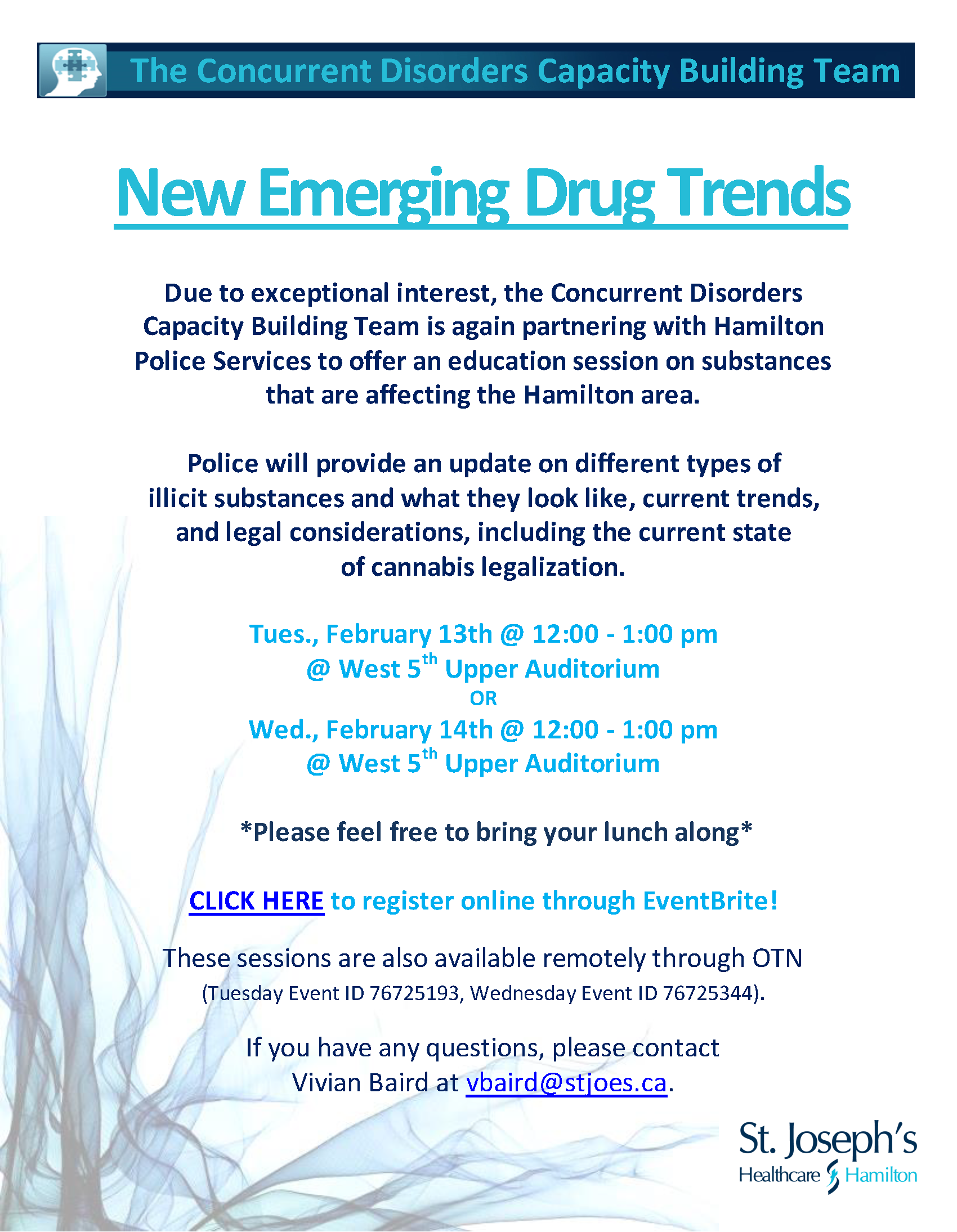 Emerging Drug Trends conference Feb. 13 noon