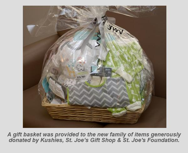 Hamilton's first baby of 2017 - image of donated gift basket