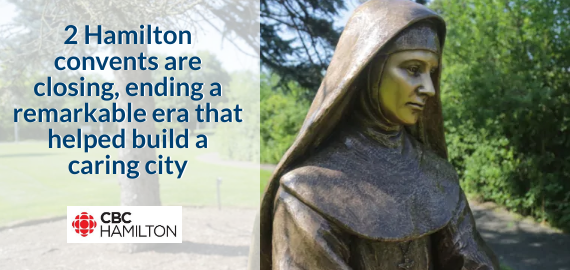 A statue of Mother Mary Martha Von Bunning sits outside the Sisters of St. Joseph motherhouse in Dundas. Von Bunning was still in her twenties when she founded the Hamilton order. She died in her 40s. (photo credit: Samantha Craggs/CBC)