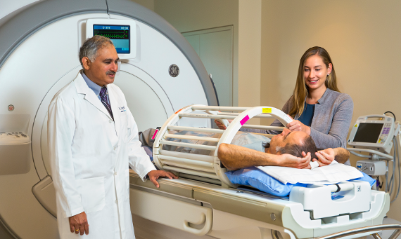 Dr. Parameswaran Nair, Professor of Medicine at McMaster University and a respirologist and researcher at St. Joe's Firestone Institute for Respiratory Health, and Dr. Sarah Svenningsen, a Banting post-doctoral research fellow, are using functional MRI to locate specific areas of the lungs affected by severe asthma with the goal of creating targeted therapies.