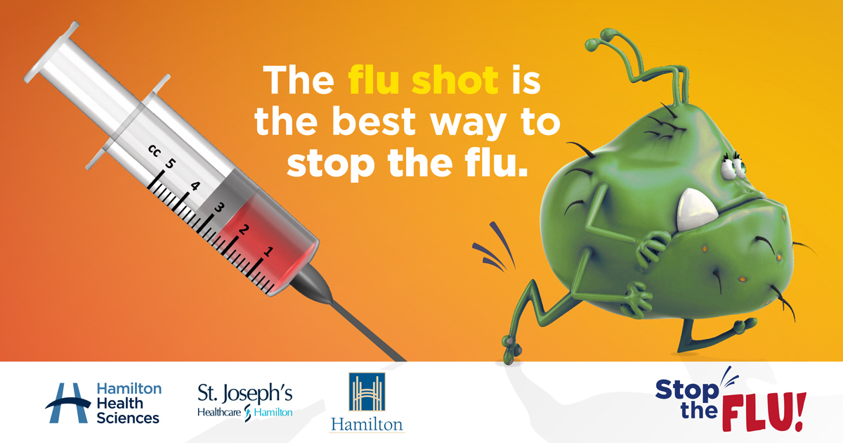 Be a flu fighter campaign launched by St  Joe's, HHS and Hamilton