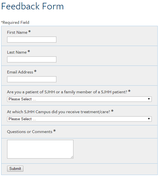 Click The Form Above To Join The Virtual Patient Feedback Group
