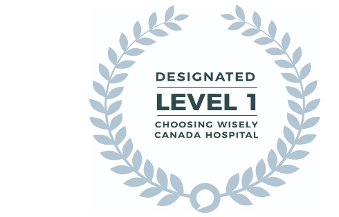 Choosing Wisely Canada designated level 1 logo