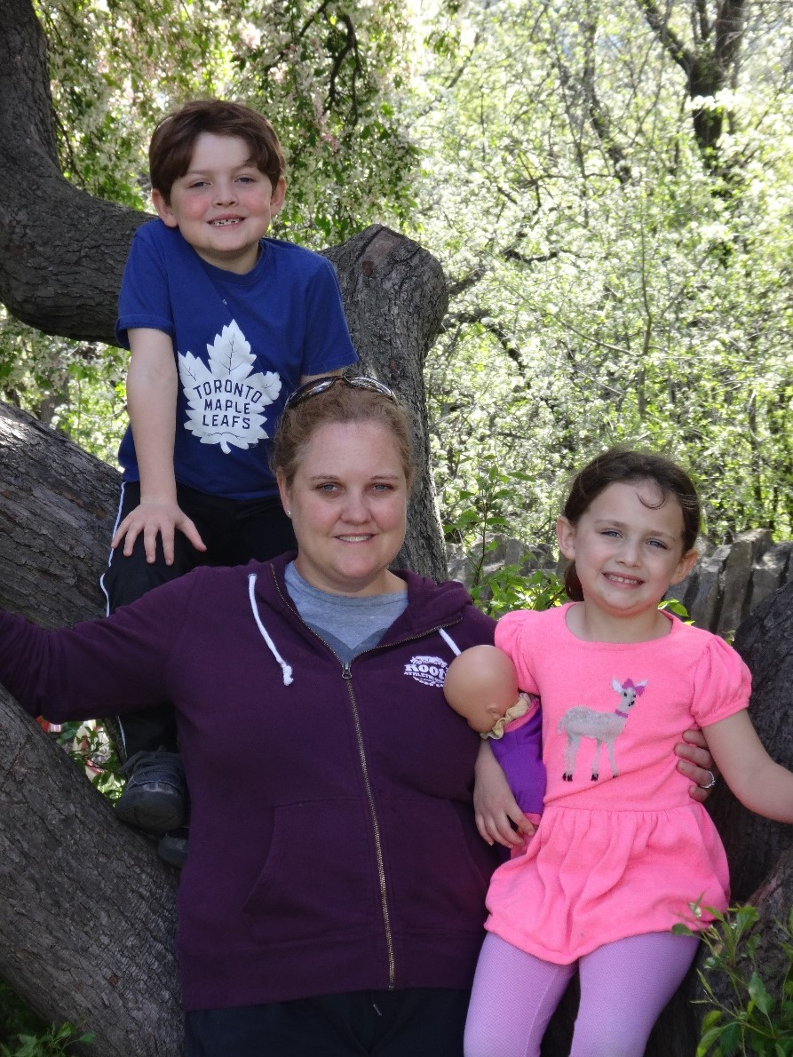 Photo of researcher Leigh Wilson with her family.
